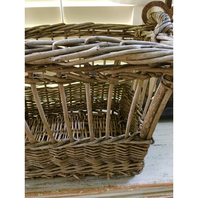 1920s Vintage French Wicker Boulangerie Bakery Bread Basket For Sale - Image 5 of 9