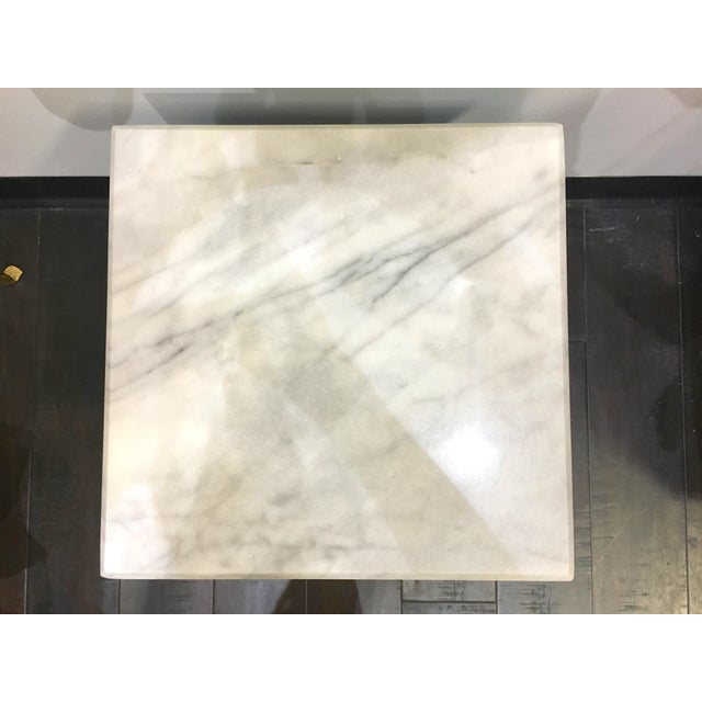 20th Century Ming Blue Chow Leg Marble Side Tables - a Pair For Sale In Seattle - Image 6 of 8
