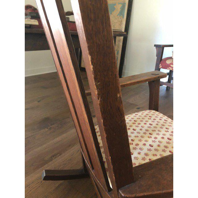 Mission 1930s Vintage Mission Style Rocking Chair For Sale - Image 3 of 10