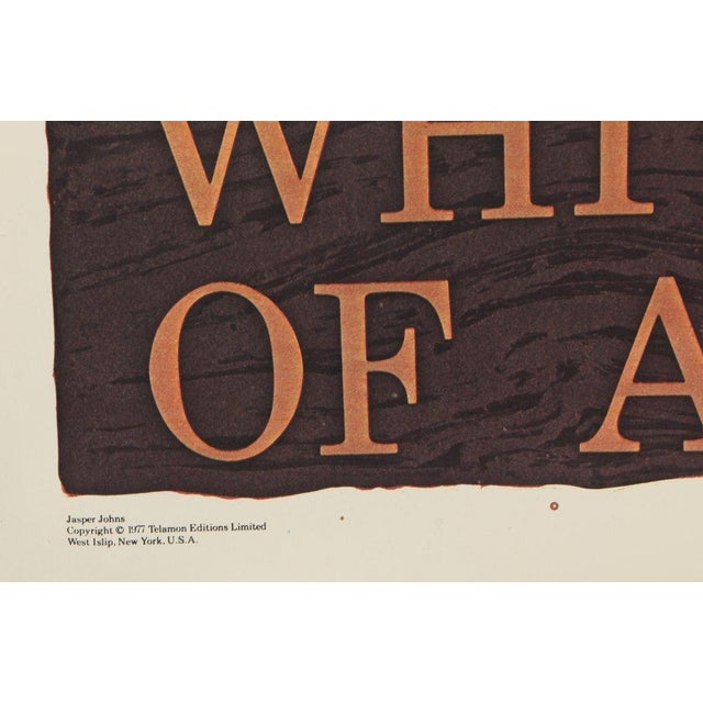 Pop Art Jasper Johns Savarin Whitney Museum Vintage Exhibition Poster Lithograph For Sale - Image 3 of 6