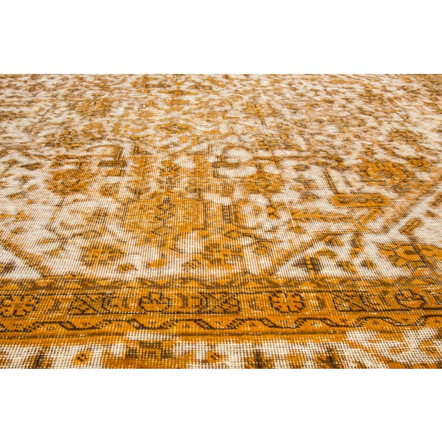 "Apadana Yellow Overdyed Rug - 10' X 12'7"" - Image 5 of 5"