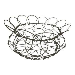 Collapsable French Vintage Egg Basket For Sale