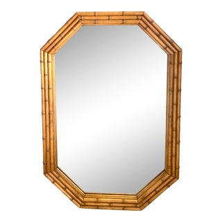 Coastal Carved Bamboo Mirror For Sale