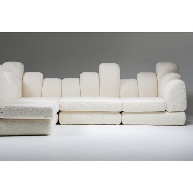 Hans Hopfer 'Dromedaire' Sectional Sofa in Pierre Frey Wool, Roche Bobois - 1974 For Sale - Image 11 of 12