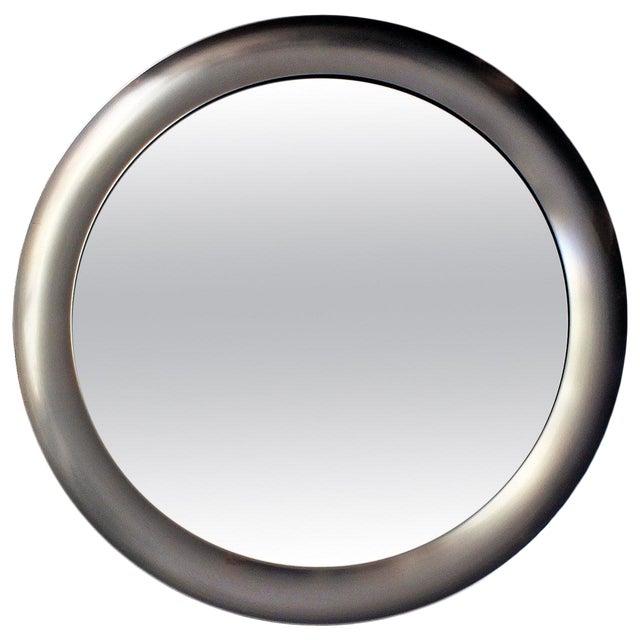 1960´s Narciso mirror by Sergio Mazza, aluminium frame - Italy For Sale