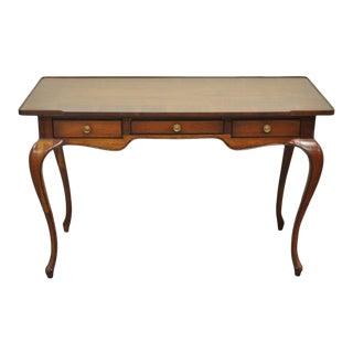 Vintage French Country Cherry Console Table Ladies Desk