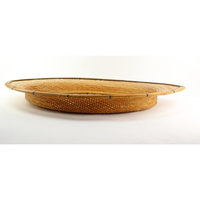 Mid-Century Wicker Tray - Image 4 of 5