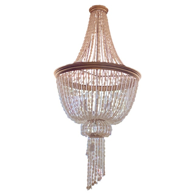 """French 64"""" Crystals and Shells 9 Light Coastal Chandelier For Sale - Image 13 of 13"""