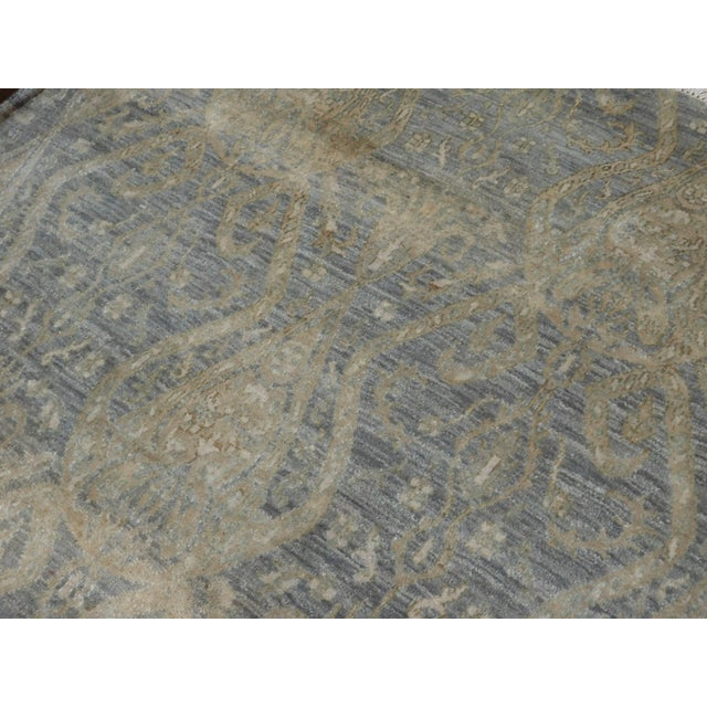 Hand Knotted Indian Ikat Rug - 9′ × 12′ For Sale In Los Angeles - Image 6 of 12
