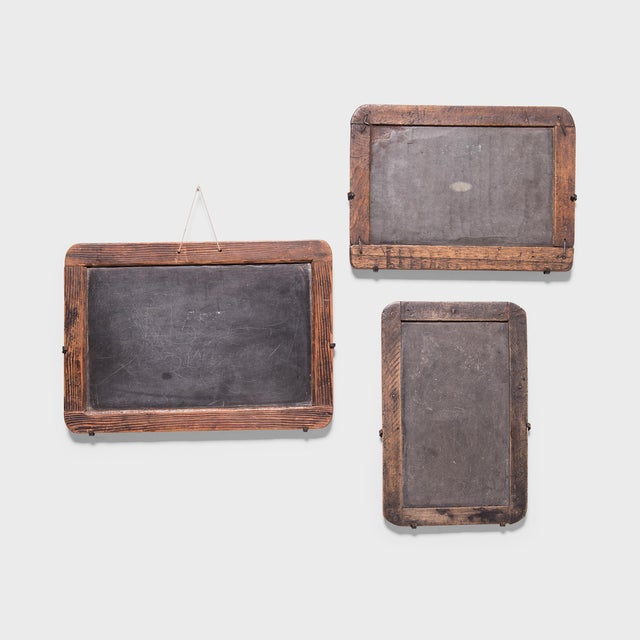 Brown Vintage Chinese School House Slate Boards - Set of 3 For Sale - Image 8 of 8