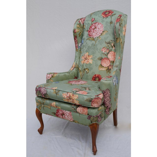 French Baker Wing Back Chair For Sale - Image 3 of 10
