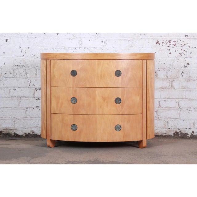 Charles Pfister for Baker Art Deco Primavera Three-Drawer Oval Commode Bachelor Chest For Sale - Image 13 of 13
