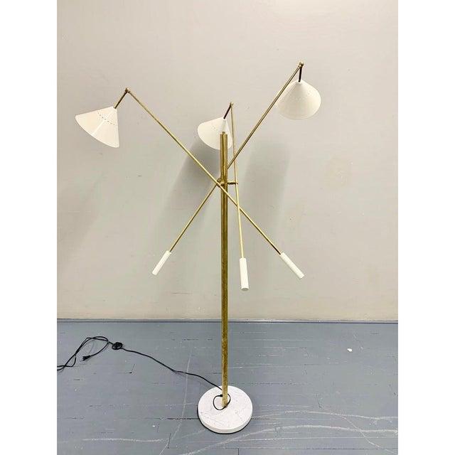 Mid-Century Modern Italian Brass Mid Century Style Floor Lamp For Sale - Image 3 of 12