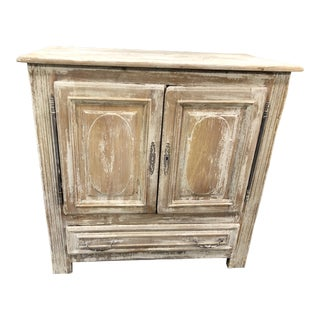 Circa 1860's Louis XV White Distressed Buffet