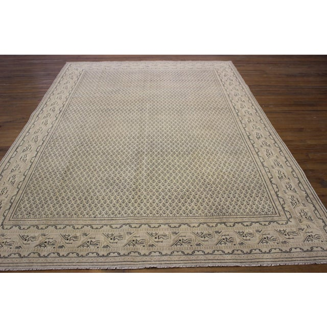 Tan Vintage Hand-Woven Overdyed Rug - 6′2″ × 9′2″ - Image 3 of 9