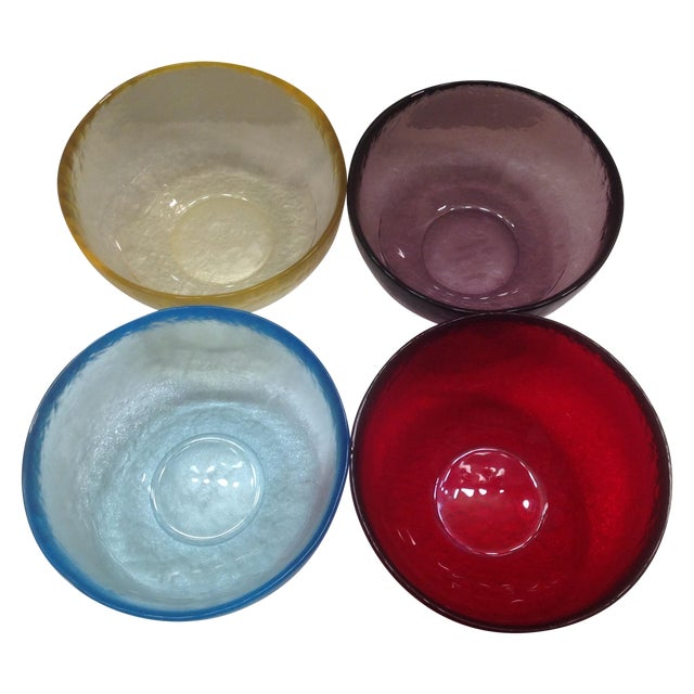 Yalos Casa Murano Art Glass Bowls - Set of 4 For Sale