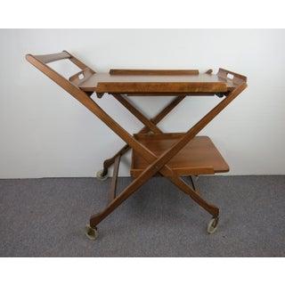 1950s Mid-Century Modern Nasco Folding Walnut Bar Cart Preview