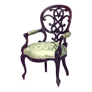 Victorian Rosewood Arm Chair For Sale
