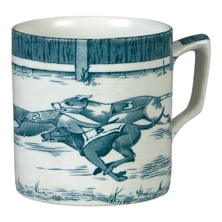 Staffordshire Greyhound Mug by Leighton Pottery For Sale