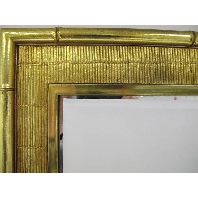 Faux Bamboo 1960s Boho Chic Syroco Faux Bamboo Mirror For Sale - Image 7 of 10