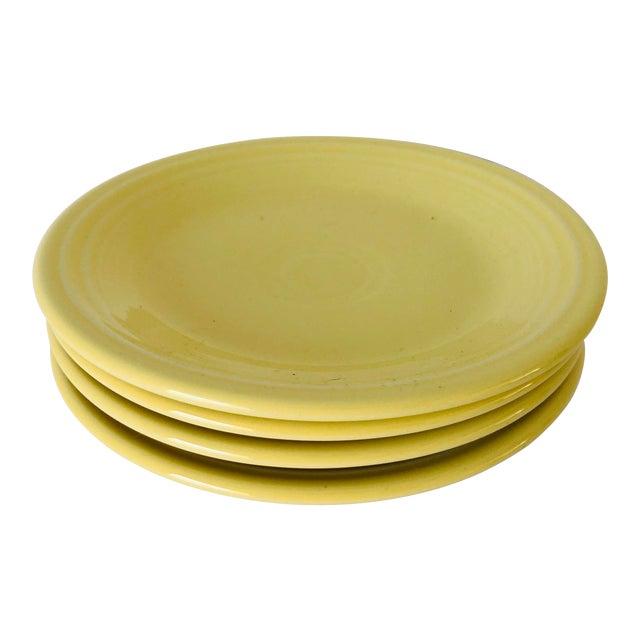Fiesta Ware Yellow Bread Plates S-4 For Sale