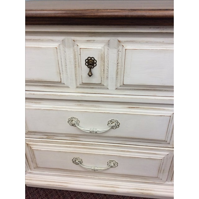 6-Drawer Rustic White Dresser - Image 3 of 4