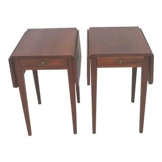 1950s Bespoke Hand Crafted Walnut Pembroke Tables - a Pair For Sale