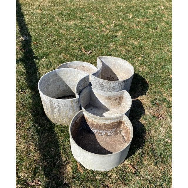 """Eternit AG 1970s """"Luna"""" Fiber Concrete Planters - Set of 5 For Sale - Image 4 of 6"""