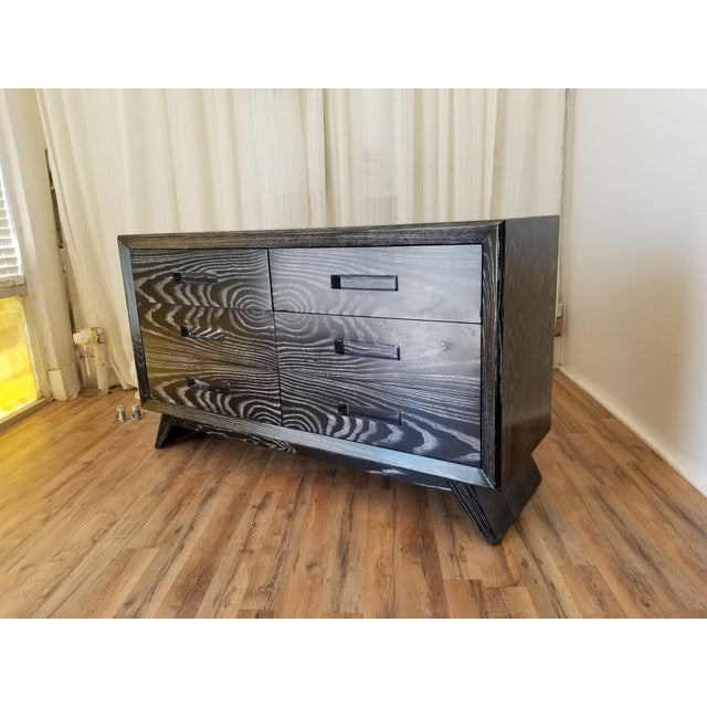 Mid Century Black Ceruse Dresser For Sale In Los Angeles - Image 6 of 13