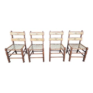 California Rancho / Spanish Colonial Dining Chairs, Set 4 For Sale