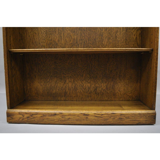 Mid Century Mission/Arts and Crafts Style Oak Two-Shelf Bookcase For Sale In Philadelphia - Image 6 of 13