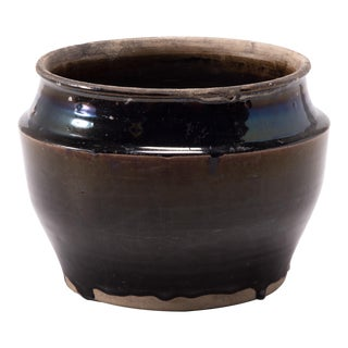 Early 20th Century Chinese Drip Glaze Pickling Basin For Sale