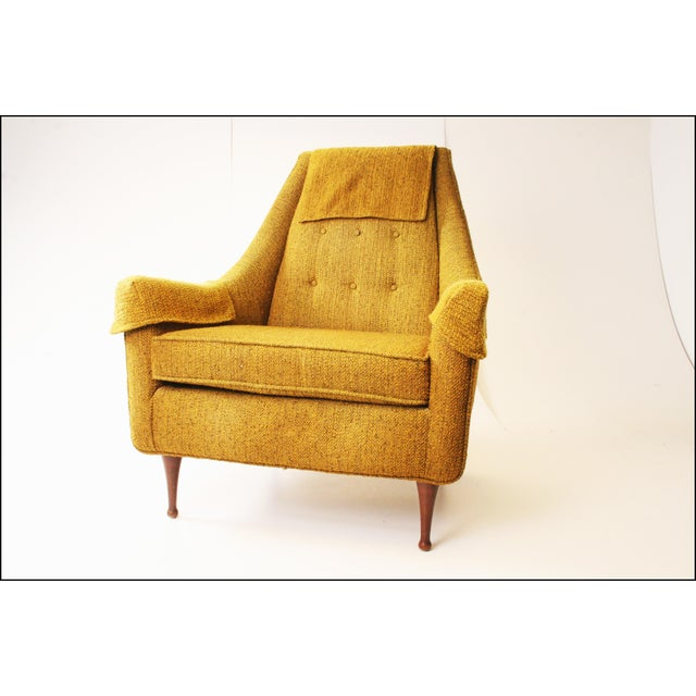 Mid Century Modern Upholstered Lounge Chair by Flexsteel - Image 11 of 11
