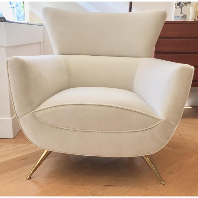 1950s Mid-Century Modern Henry Glass Lounge Armchair For Sale - Image 10 of 10