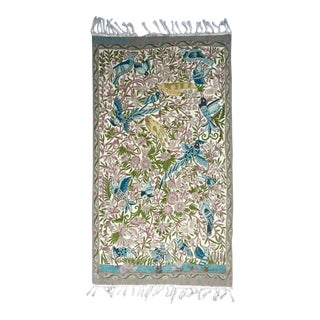 Kashmir Handmade Crewel Tapestry For Sale