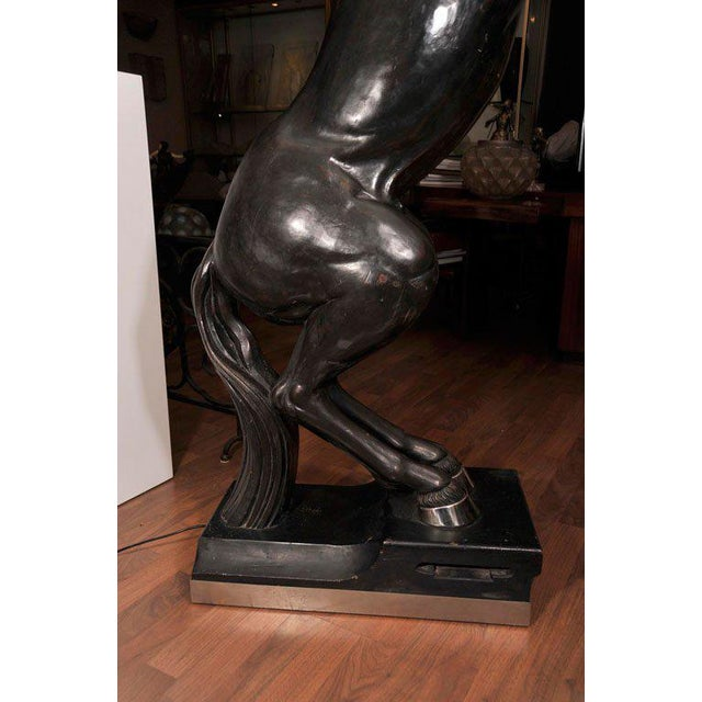 Maison Jansen Pair of Monumental, Electrified Horse Figures For Sale In New York - Image 6 of 10