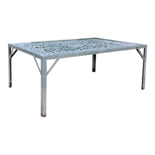 19th Century Iron Panel Coffee Table For Sale