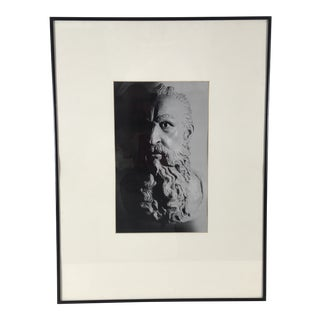 1980s Vintage Framed Black-And-White Photograph For Sale