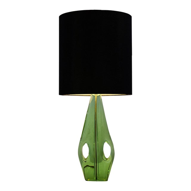 Lovely mid century french blown green glass table lamp decaso mid century french blown green glass table lamp for sale aloadofball Image collections