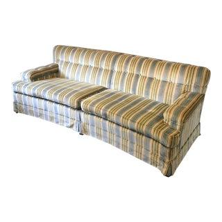 Large Vintage Curved Sofa