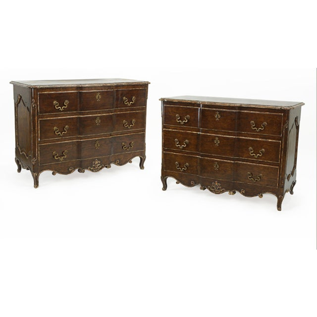 Louis XV Style Commodes With Painted and Gilt Finish Bronze Hardware- A Pair For Sale In Chicago - Image 6 of 6