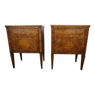 Pair of 18th Century Italian Inlaid Chests For Sale