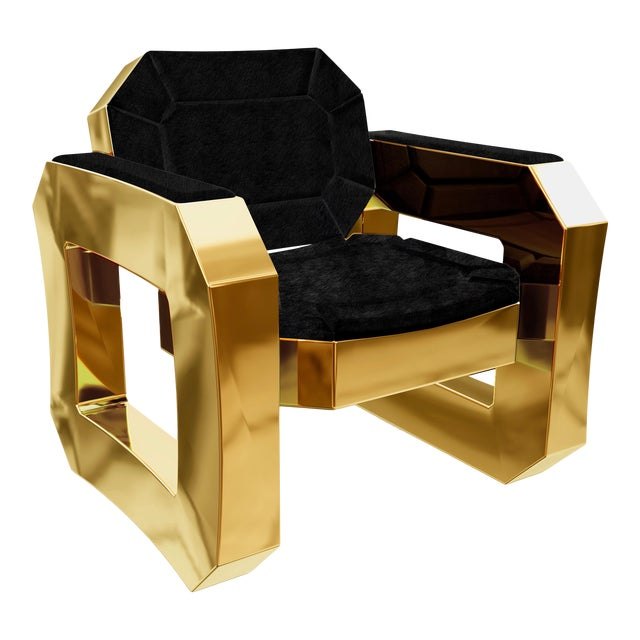 Facet Lounge Chair by Artist Troy Smith - Contemporary Design - Handmade Furniture For Sale