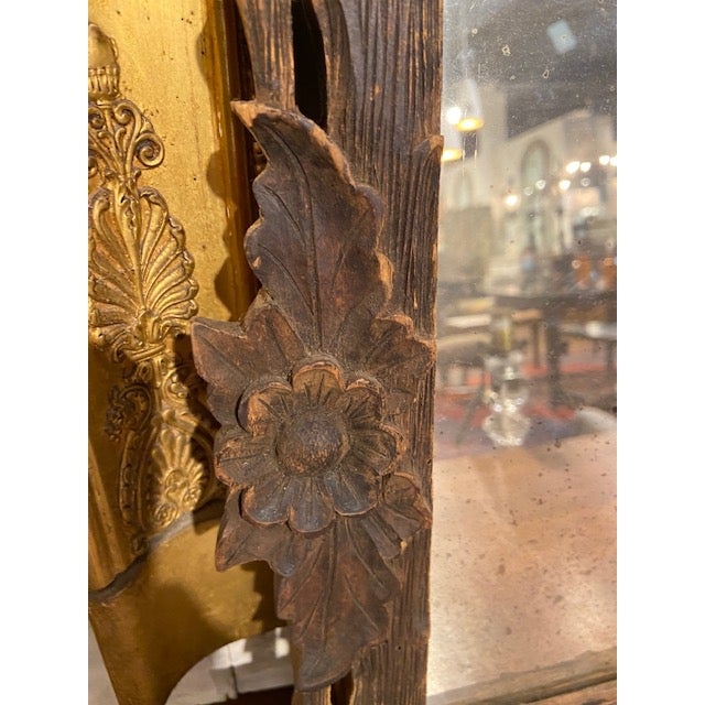 Black Forest Carved Frame with Mirror For Sale - Image 4 of 5