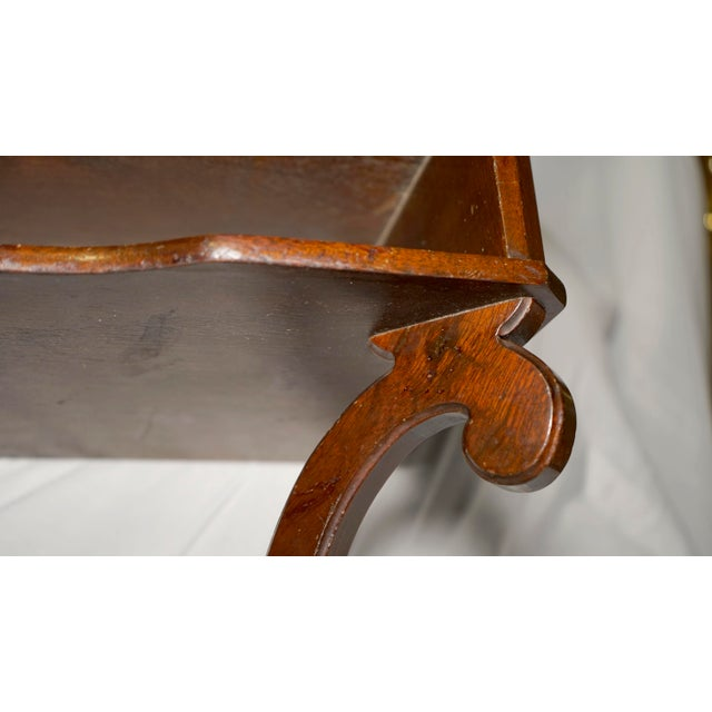 Mahogany Vintage Hanging Wall Mount Scalloped Bracket Console For Sale In Los Angeles - Image 6 of 10