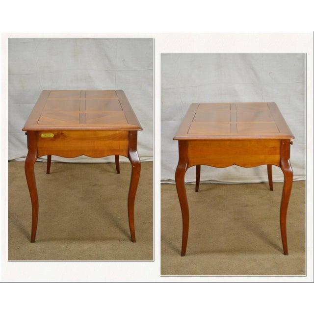 Grange French Cherry Louis Xv Style Bureau Plat Writing Desk