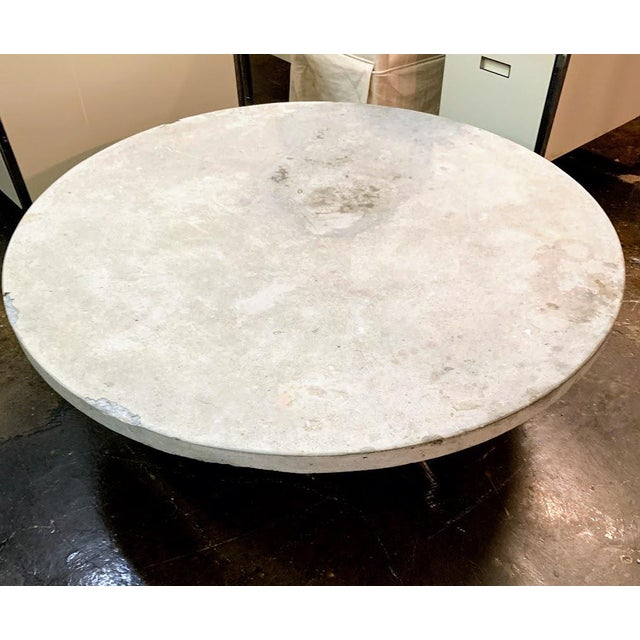 Indoor / outdoor solid concrete coffee table. Round table top is separate from the cylindrical base. Whether you're...