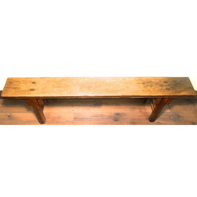Antique Chinese Ming Long Bench - Image 6 of 10