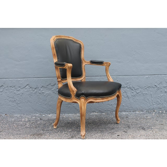 1960s Vintage Louis XV Style Carved Walnut Armchair For Sale - Image 4 of 9