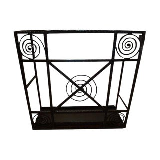 1930s Art Deco Wrought Iron Umbrella Stand For Sale